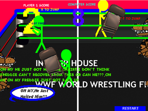 Wrestling With Freddie 3.3 Now With Commentary game