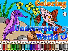 play Coloring Underwater World 3