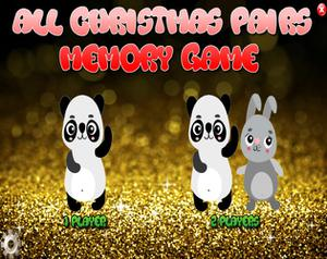 play All Christmas Pairs Memory Game