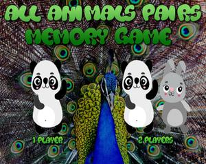 play All Animals Pairs Memory Game
