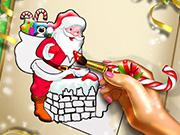 play Santa Christmas Coloring
