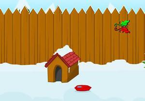play Snowy Yard Escape