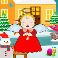play Cute Snow Angel Escape