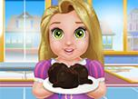 Baby Rapunzel Cooking Cake Balls game