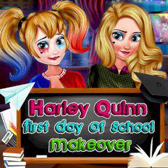 play Harley Quinn First Day Of School Makeover