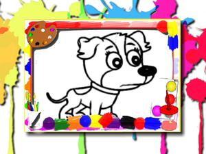play Dogs Coloring Book