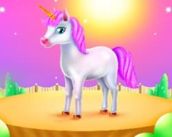 play Cute Unicorn Caring And Dressup