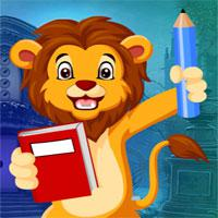 G4K-Studying-Lion-Escape