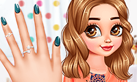 play Princesses Flower Nails Art