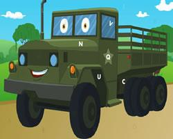 play Army Trucks Hidden Letters