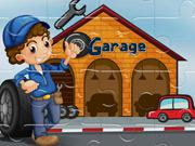 Vehicles Garages Jigsaw game