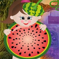 Watermelon Girl Rescue game