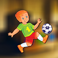Stylish Football Boy Escape game