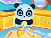 play Cute Panda Caring And Dressup