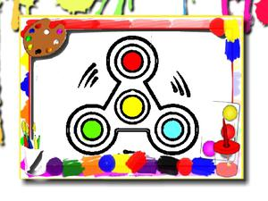 play Fidget Spinner Coloring Book
