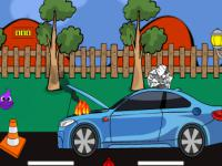 play Recover A Burning Car On Fire