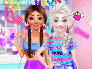 Princesses Neon Fashion game