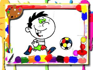 play Football Coloring Time