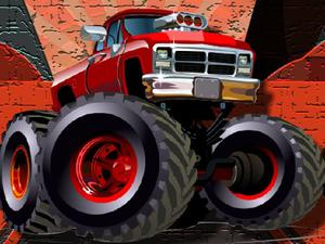 play Crazy Monster Trucks Puzzle