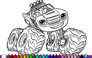 Blaze Monster Truck Coloring Book game