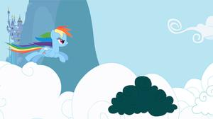 Rainbow Dash Attack Clouds game