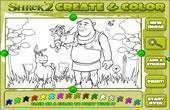 Shrek 2 Create And Color game