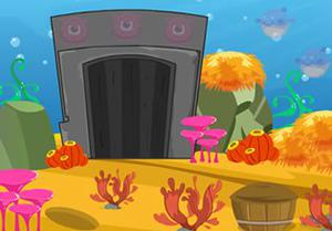 Find A Treasure In The Aquarium House Escape game