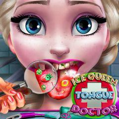 play Ice Queen Tongue Doctor
