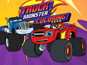 Monster Truck Coloring game