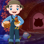 Chicken Farming Man Rescue game
