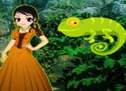 play Rescue Girl From Chameleon Forest