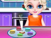 play Elsa Little Chef Rainbow Baking