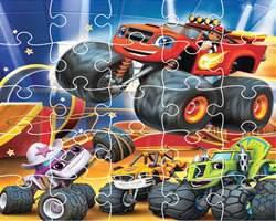 play Blaze Trucks Jigsaw