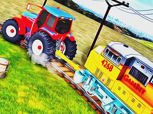 play Chained Tractor Towing Train Simulator