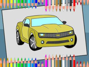 play American Cars Coloring Book