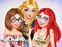 Princesses Summer Touch game