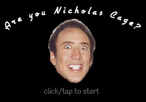 Are You Nicholas Cage? game