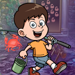 Fishing Boy Rescue game