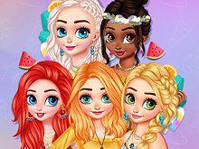 Princesses Hot Summer Days game