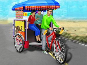 play Public Tricycle Rickshaw Driving