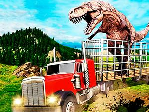 play Jurassic Dino Transport Truck