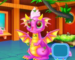 play Cute Dragon Caring And Dressup