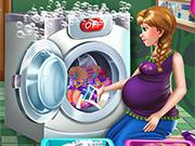 play Pregnant Princess Laundry Day