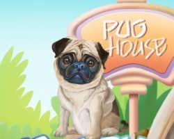 Puppy Pug House Decoration game