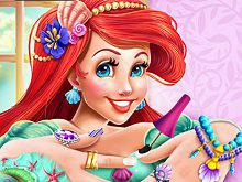 play Mermaid Princess Nails Spa