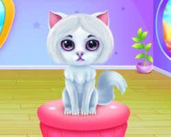 play Cute Kitty Caring And Dressup