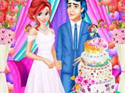 play Ariel And Eric Wedding Cake Cooking