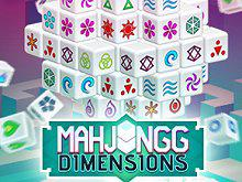 Mahjongg Dimensions (350 Seconds) game