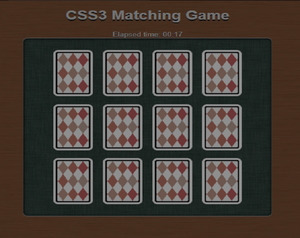 play Css3 Matching Game