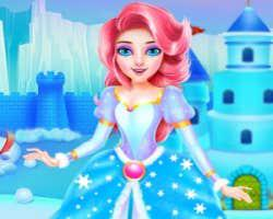 play Princess Ice Castle Cleaning And Decoration